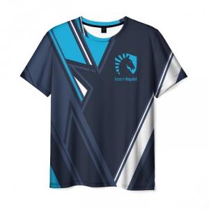 Merch T-Shirt Team Liquid E-Sport Blue Emblem Print