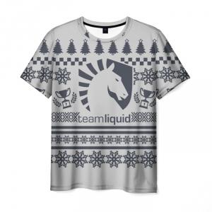 Merch T-Shirt Pattern White Emblem Team Liquid