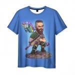 Merch T-Shirt Fortnite Battle Royale Blue Print
