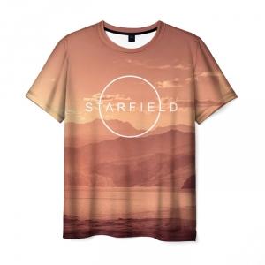 Collectibles T-Shirt Starfield Landscape Design Print