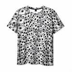 Merch T-Shirt Dice Pattern White Clothes