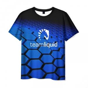 Merch T-Shirt Team Liquid Honeycombs Print