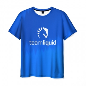 Merch T-Shirt Apparel Team Liquid E-Sport Blue