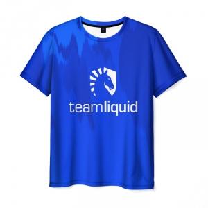 Merch T-Shirt Blue Print Merch Team Liquid