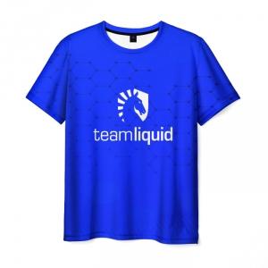 Merch T-Shirt Team Liquid E-Sport Counter Strike Blue