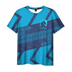 Merch T-Shirt Team Liquid E-Sport Blue Print