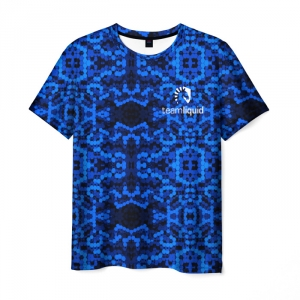 Merch T-Shirt Team Liquid E-Sport Blue Pattern