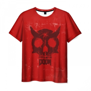 Collectibles T-Shirt Doom Demon Red Apparel
