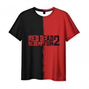 Merchandise Red Dead Redemption 2 Tshirt Red Black