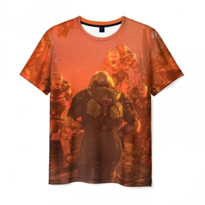 Collectibles Men'S T-Shirt Doom 2018 Game Art Colored