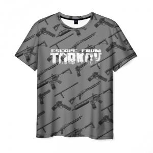 Merch Men'S T-Shirt Escape From Tarkov Weapons Pattern