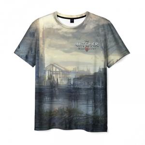 Merch Men'S T-Shirt Witcher Wild Hunt Print Apparel