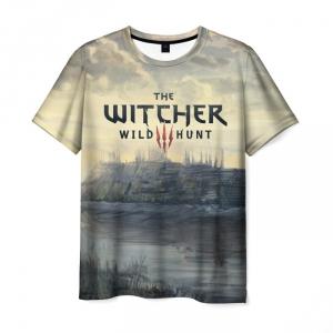 Merch Men'S T-Shirt The Witcher Wild Hunt Title