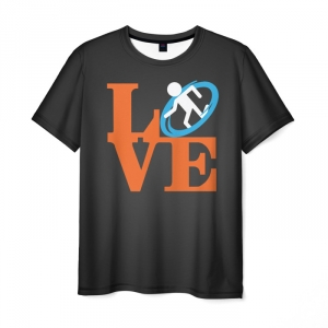 Merch Men'S T-Shirt Love Portal Game Print