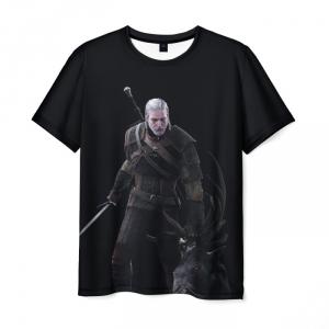 Merch Men'S T-Shirt Geralt The Witcher Game Version