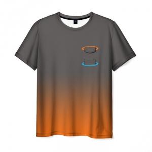 Merch Men'S T-Shirt Portal Game Logotype Shirt