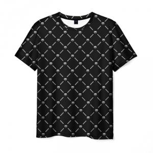 Merch Men'S T-Shirt Witcher Armor Black