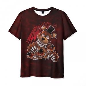 Merch Men'S T-Shirt Five Nights At Freddy'S Print