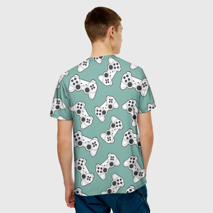 Collectibles T-Shirt Gamepads Pattern Green Clothes