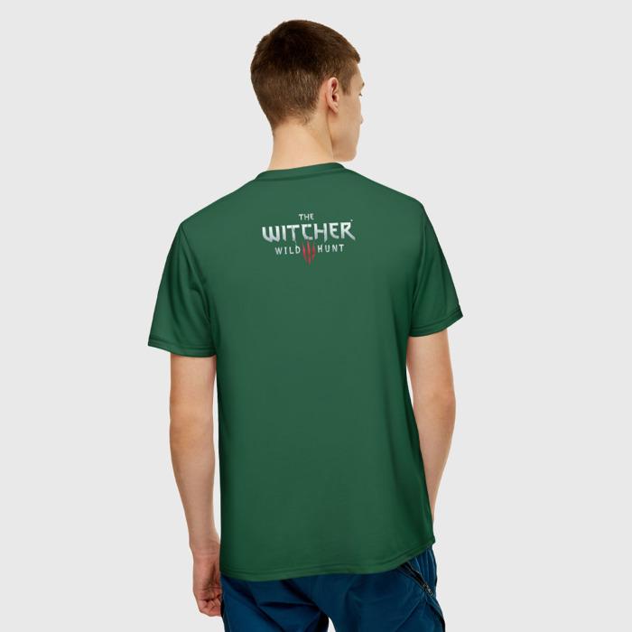 Collectibles T-Shirt Witcher Green Text Print