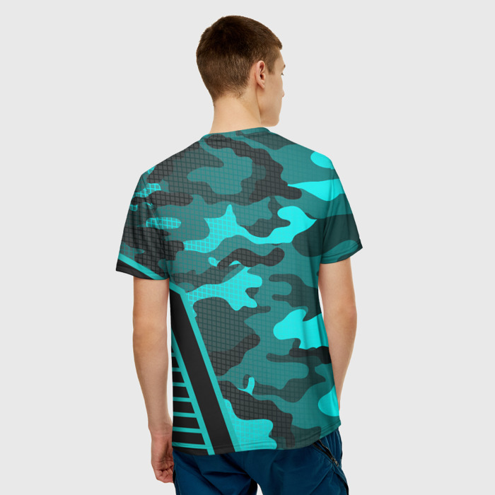 Merchandise T-Shirt Text Counter Strike Camouflage Print