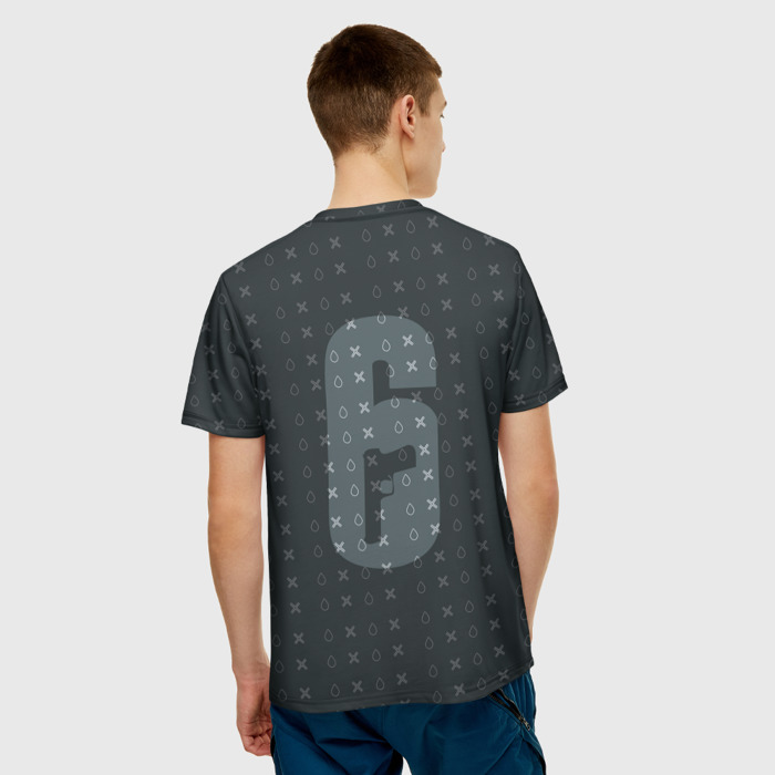Collectibles T-Shirt Black Pattern Dokkaebi Rainbox Six