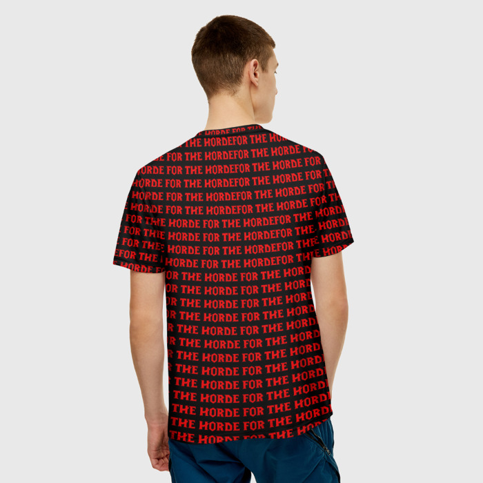 Collectibles Men'S T-Shirt For The Horde Pattern World Of Warcraft