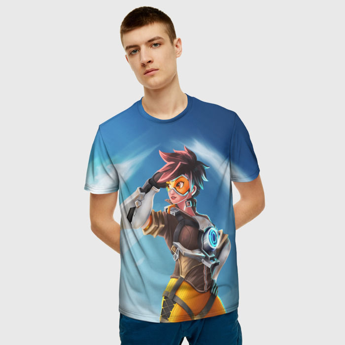 Collectibles Tracer Overwatch T-Shirt Hero Print