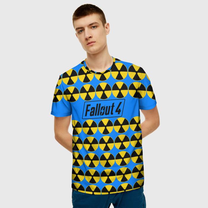 Merch T-Shirt Fallout Radiation Blue Print