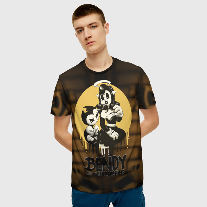 Merchandise T-Shirt Game Bendy And The Ink Machine Design