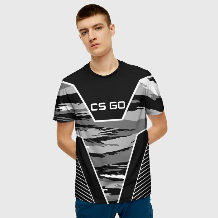 Collectibles T-Shirt Black Stroke Counter Strike Print