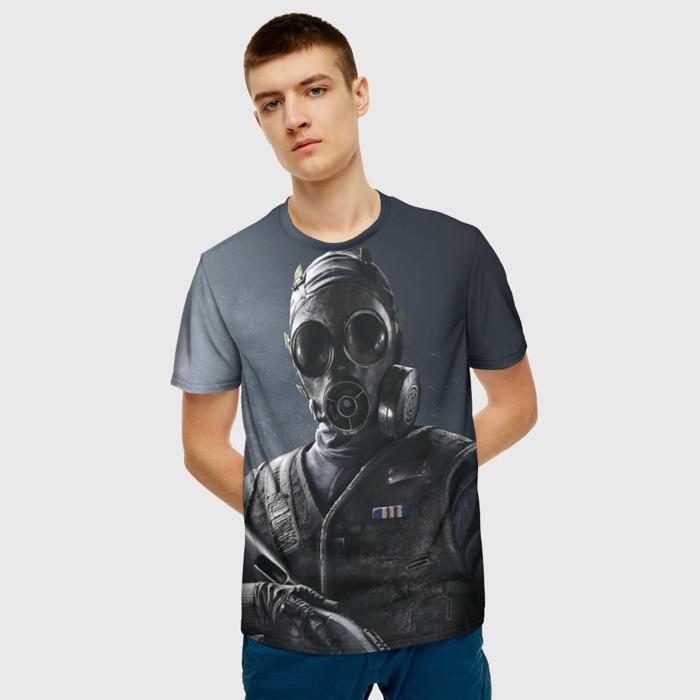 Collectibles T-Shirt Gray Print Hero Rainbow Six
