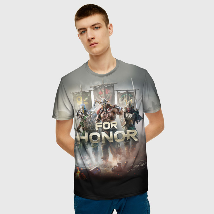 Collectibles T-Shirt For Honor Scene Print Warriors