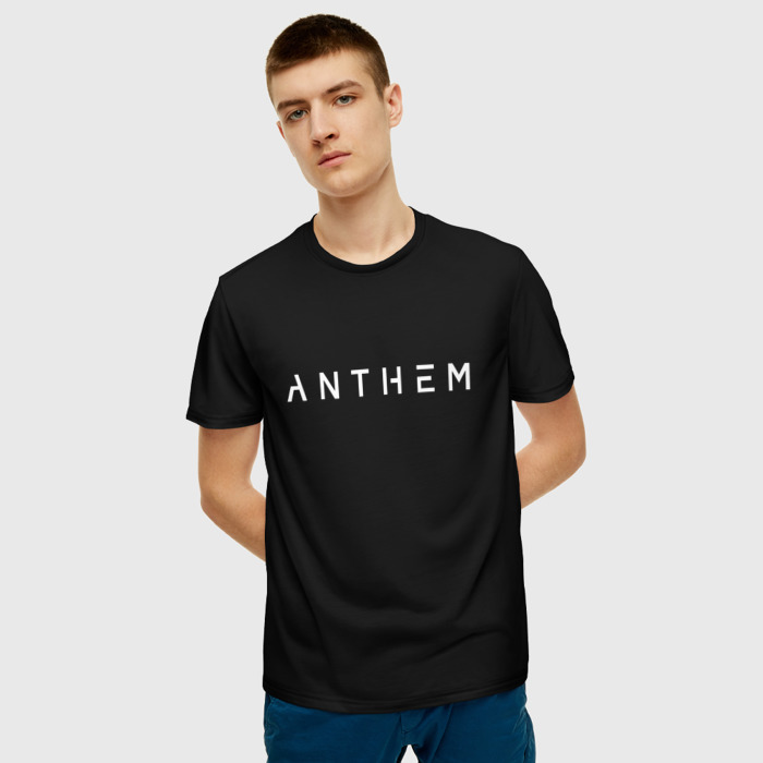 Merch T-Shirt Title Black Design Anthem Print