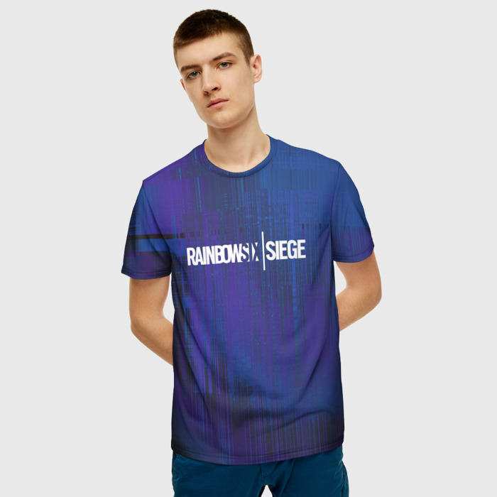 Merchandise T-Shirt Title Print Rainbow Six Siege Merch