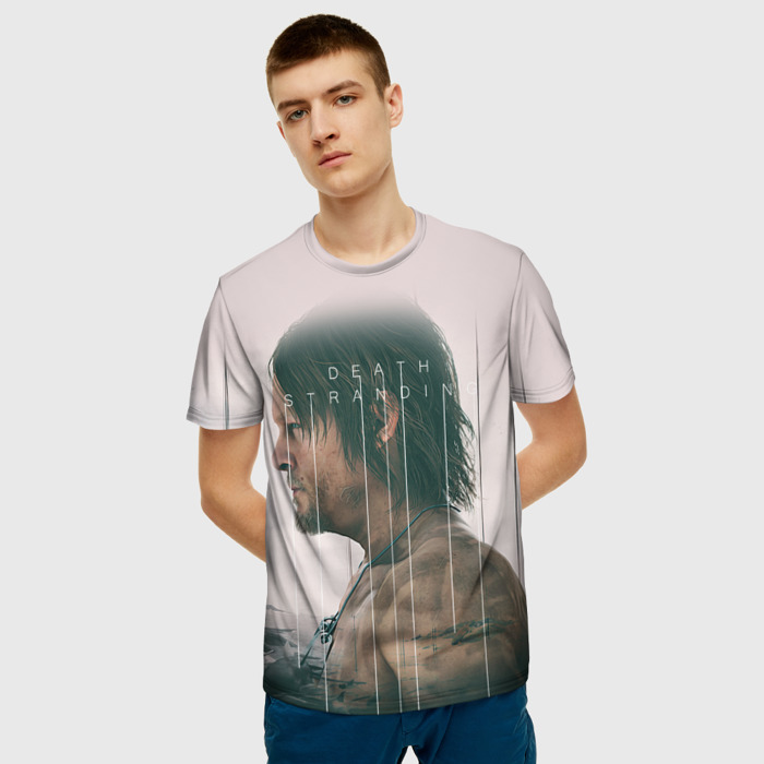 Merchandise T-Shirt Portrait Print Death Stranding White