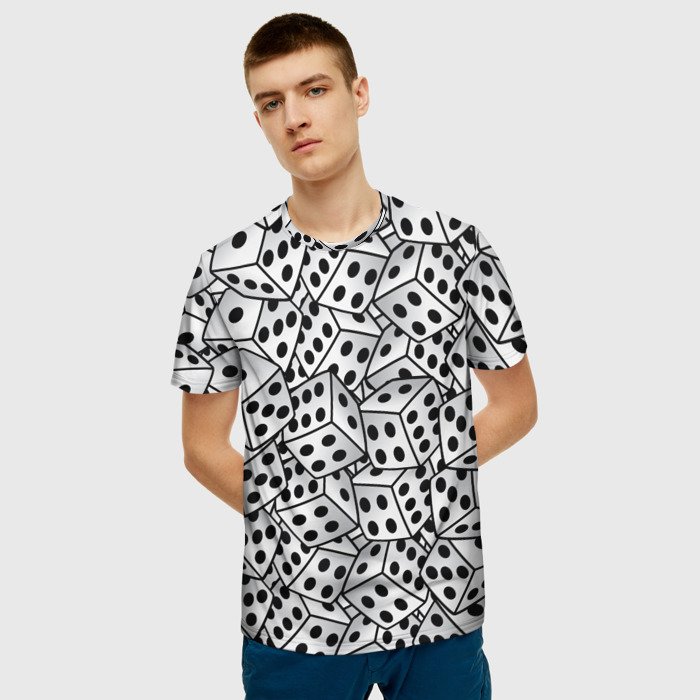 Collectibles T-Shirt Dice Pattern White Clothes