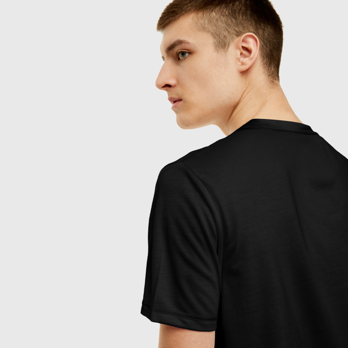 Merch T-Shirt Skull Print Minecraft Black