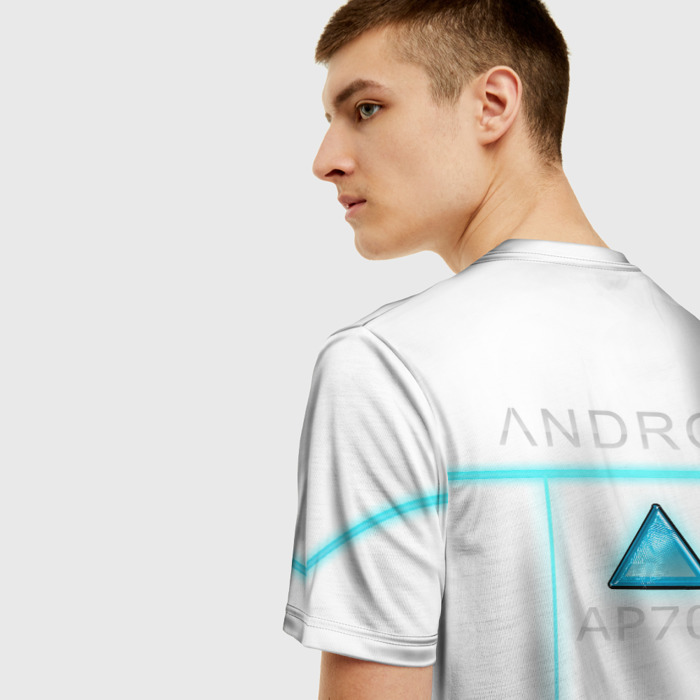 Collectibles T-Shirt White Title Detroit Become Human