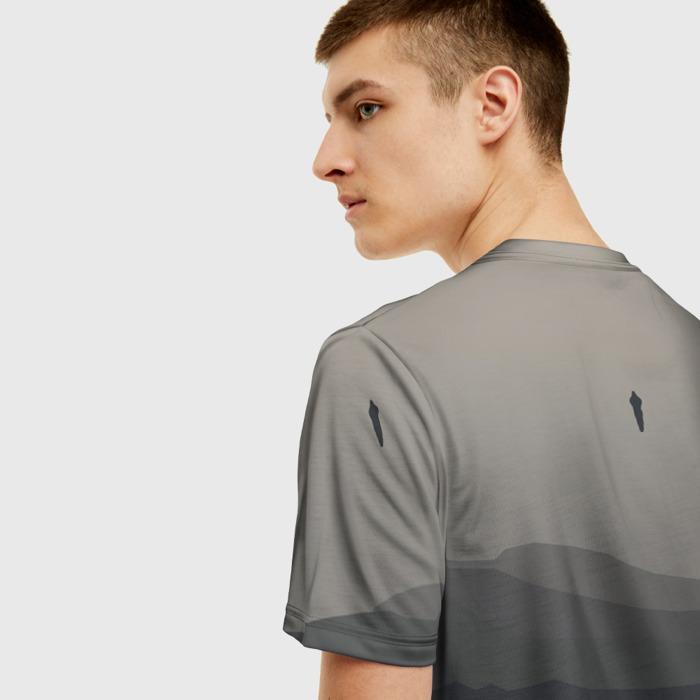 Merchandise T-Shirt Gray Print Design Death Stranding