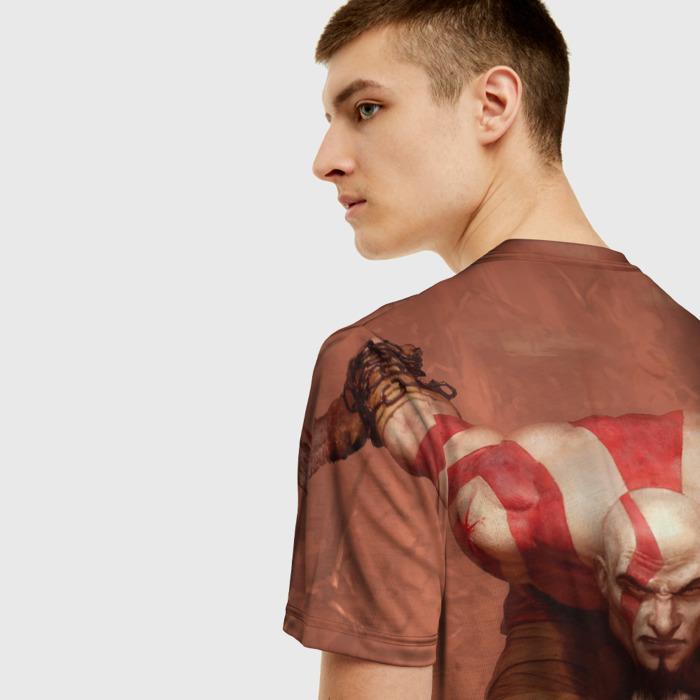 Merch T-Shirt Hero Kratos God Of War Scene Print