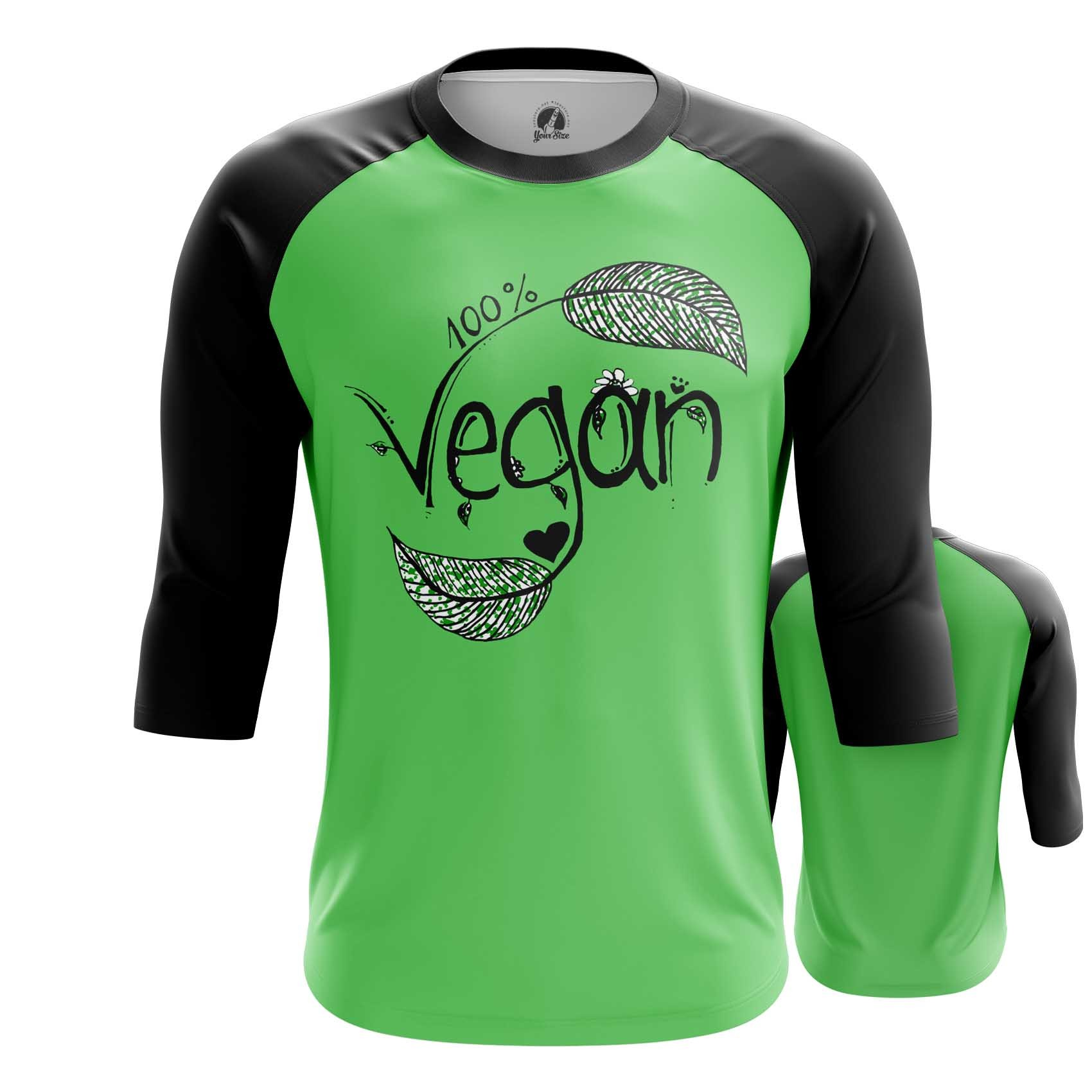 Merch Men'S Long Sleeve Vegan Green