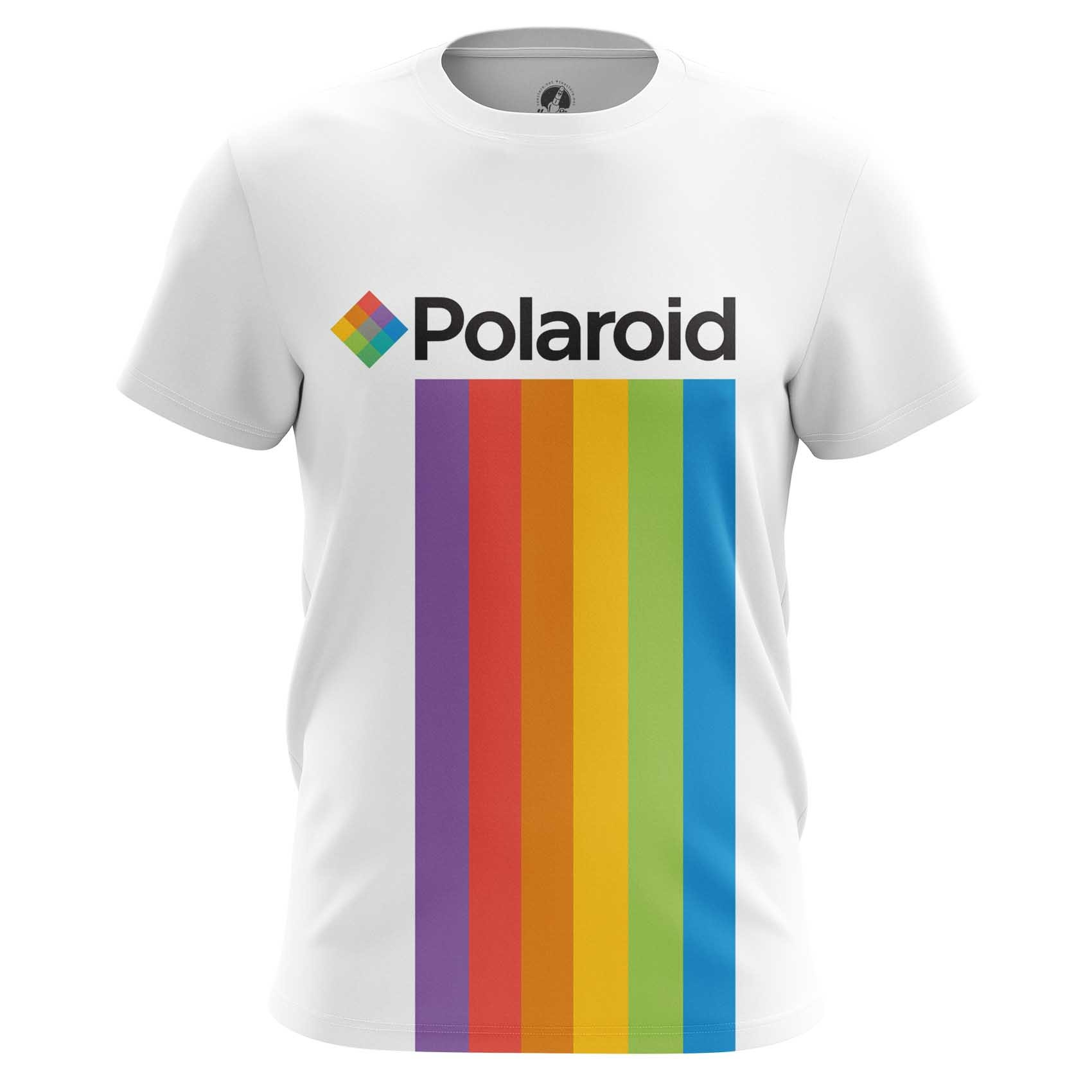 Collectibles Men'S Long Sleeve Polaroid Rainbow Logo