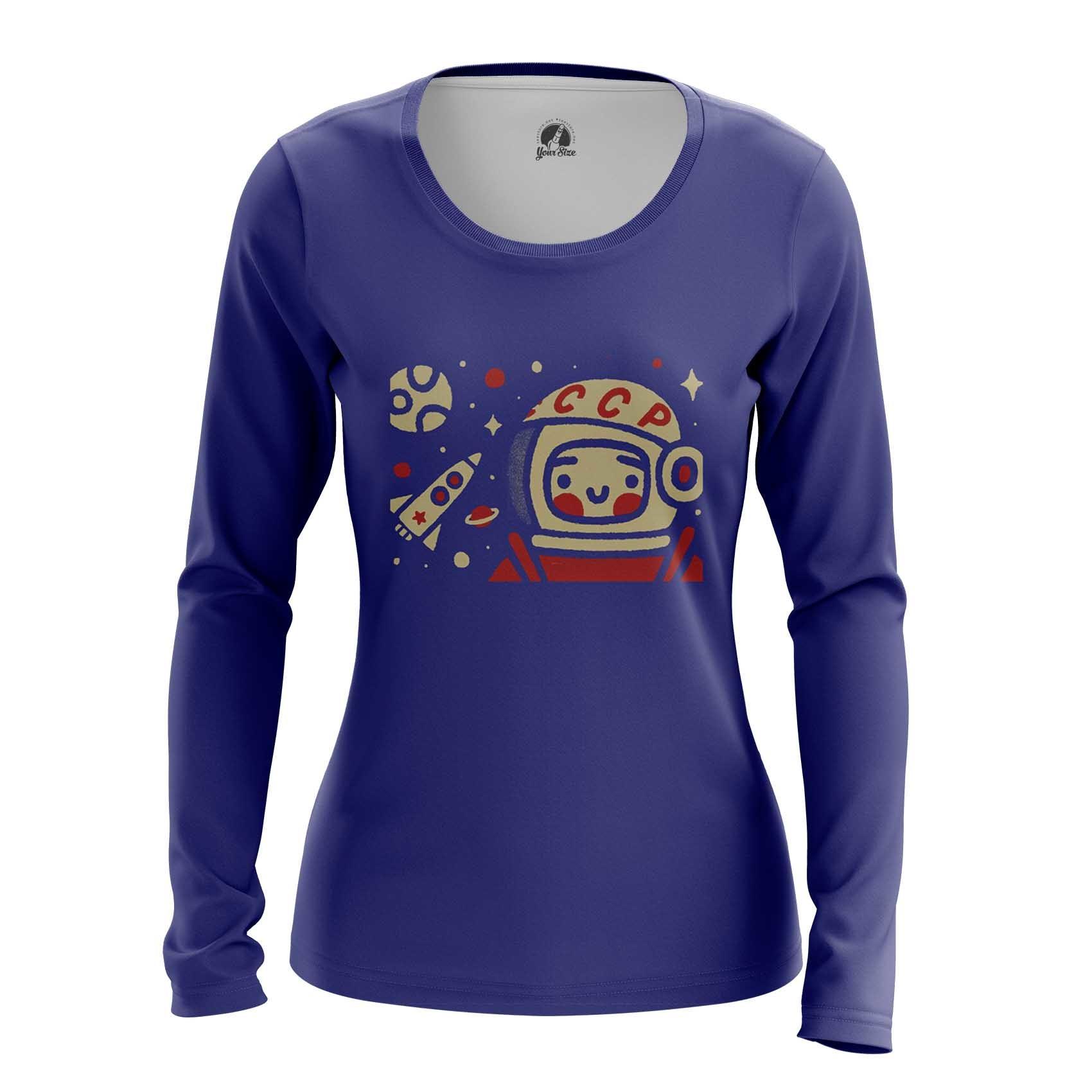 Collectibles Women'S Long Sleeve Yuri Gagarin Space Merch