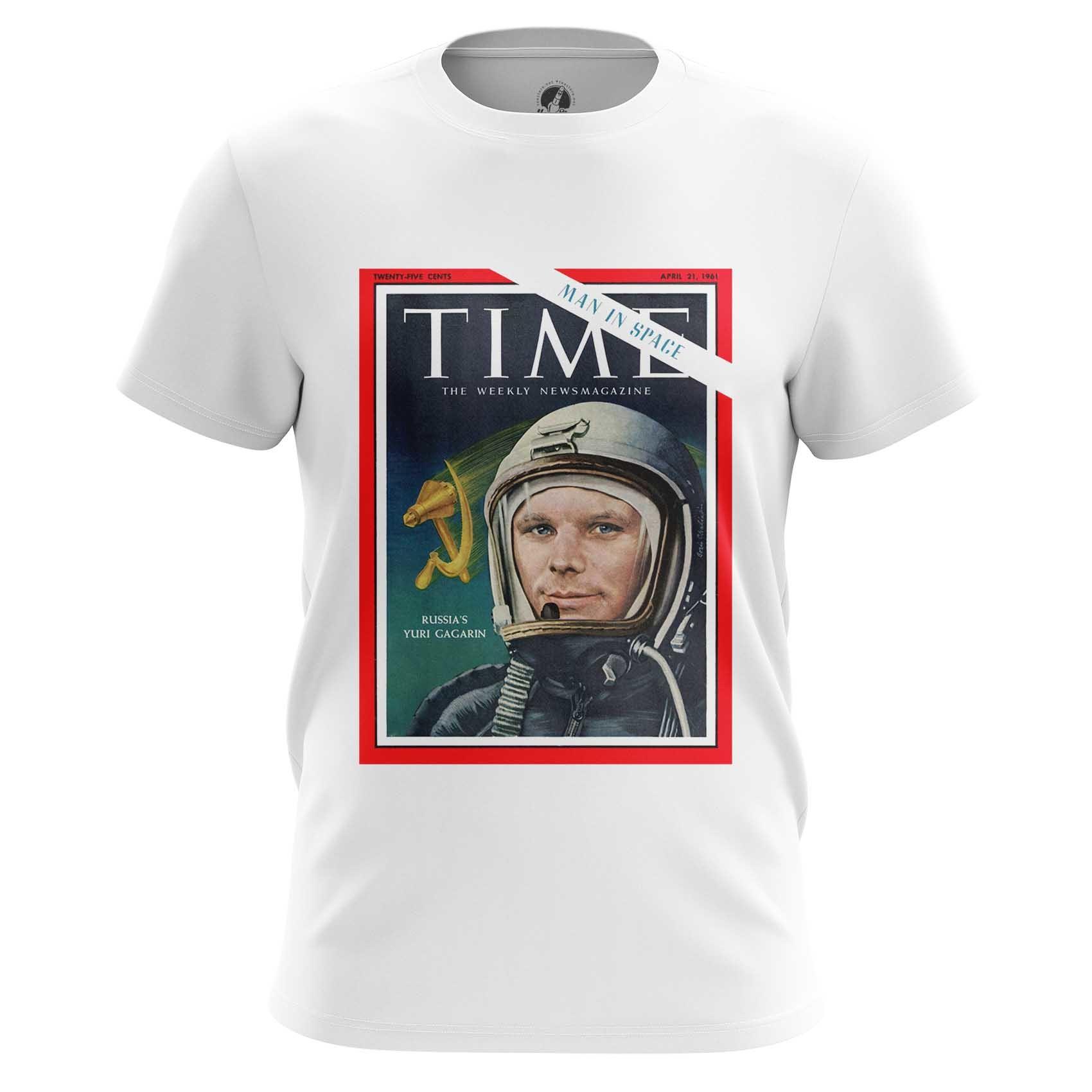 Merchandise Men'S Long Sleeve Magazine Cover Time Yuri Gagarin