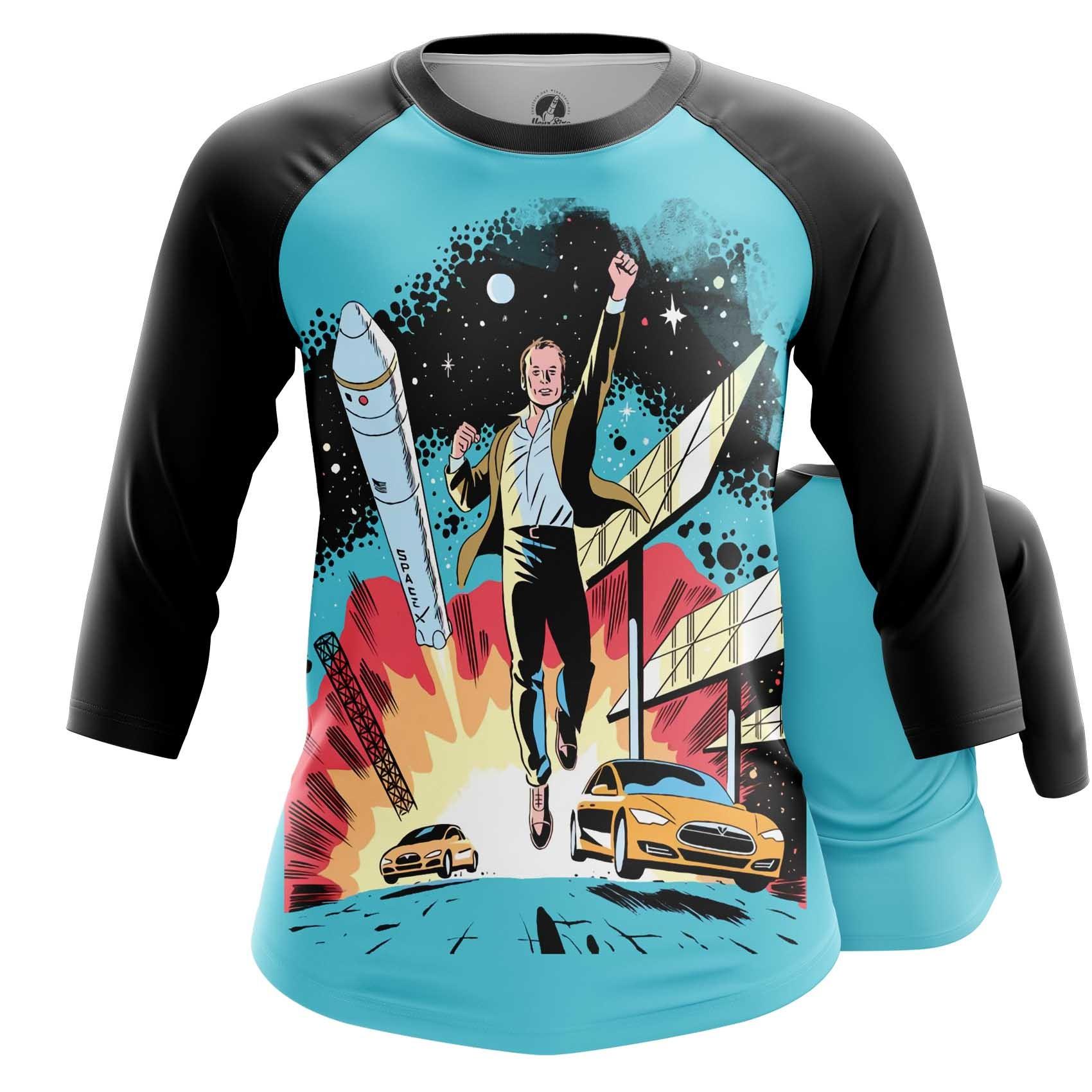 Merch Women'S T-Shirt Space X Elon Musk Merch Top
