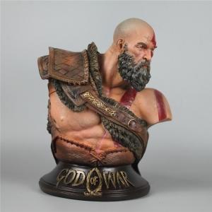 Merch Scale Kratos Bust God Of War 4 Midgard Statue Collectible