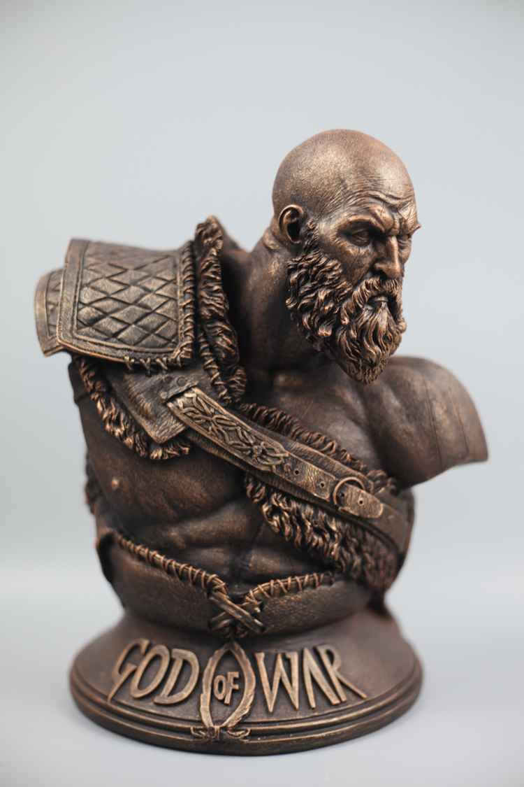 Collectibles Scale Kratos Bust God Of War 4 Midgard Statue Collectible