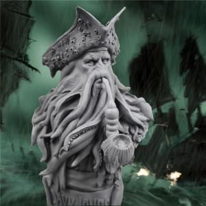 Merch Bust Davy Jones Pirates Of The Caribbean Statue Unpainted