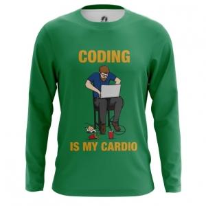 Merchandise Men'S Long Sleeve Coding Is My Cardio Web Developer